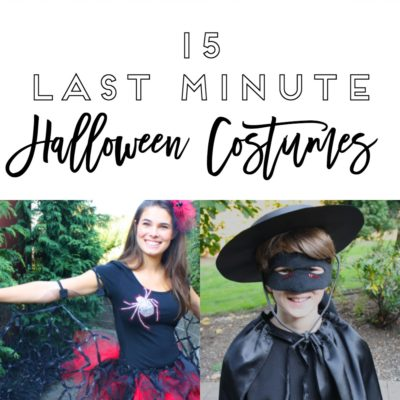15 Last Minute Halloween Costumes