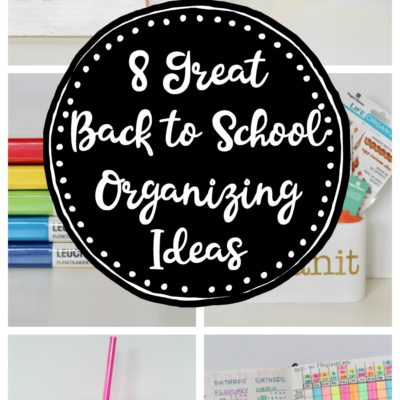 8 Great Back to School Organizing Ideas