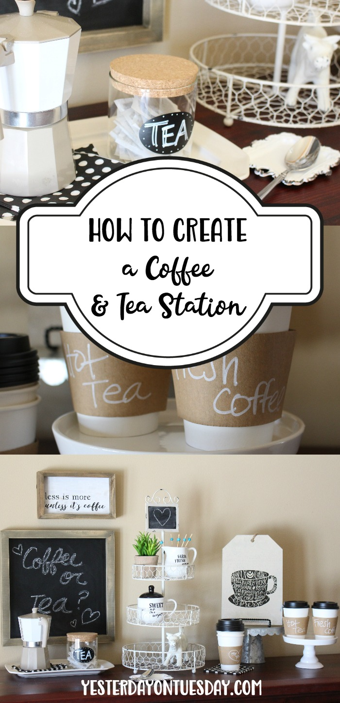 How to Create a Coffee and Tea Station