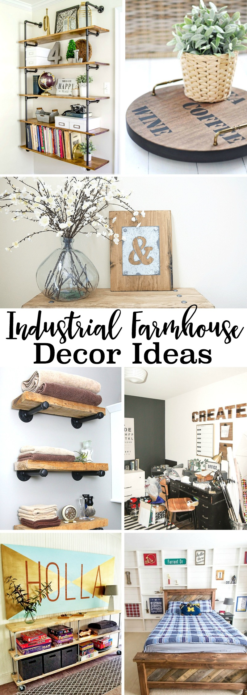 Industrial Decorating Ideas Farmhouse Decor