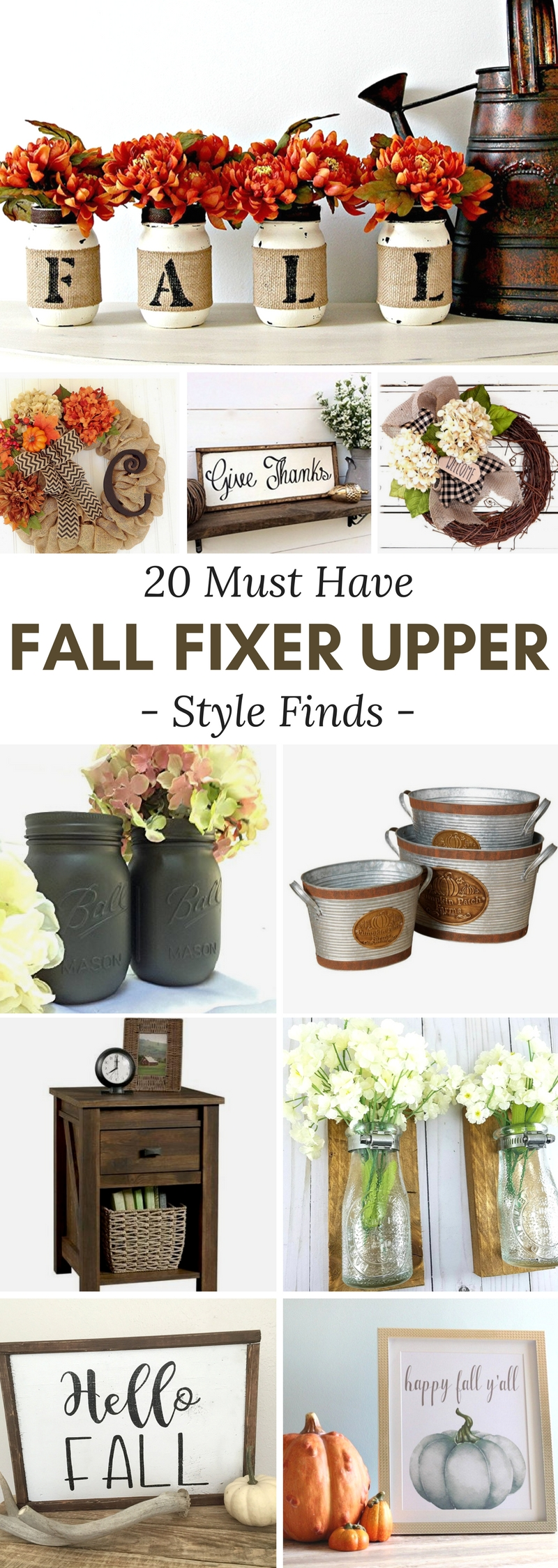 Fall Fixer Upper Style Finds