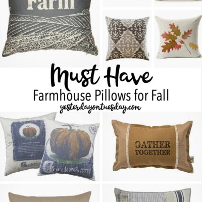 Must Have Farmhouse Pillows for Fall