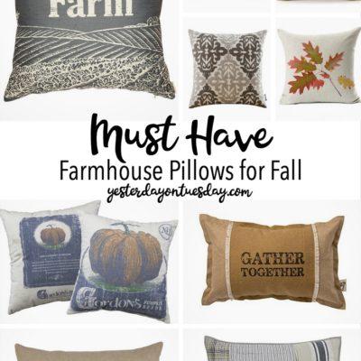 Farmhouse Pillows for Fall