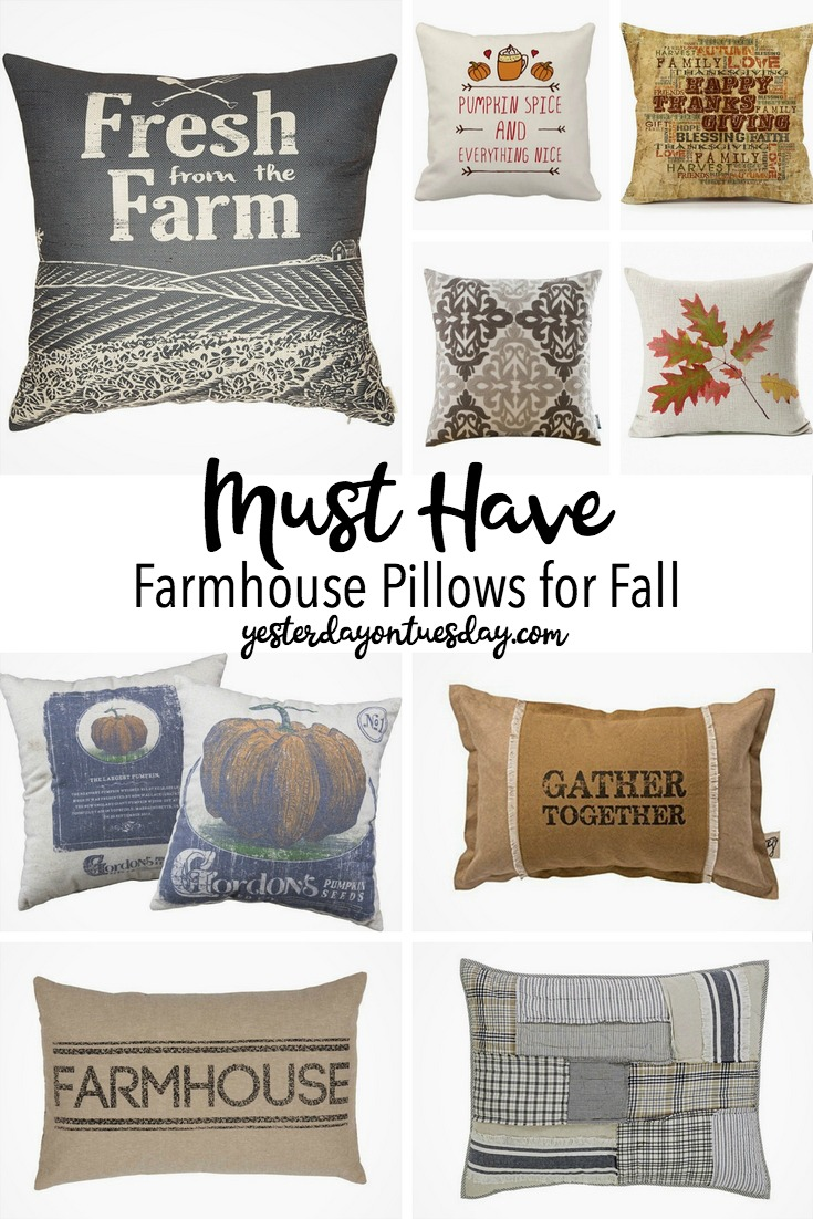Farmhouse Pillows for Fall