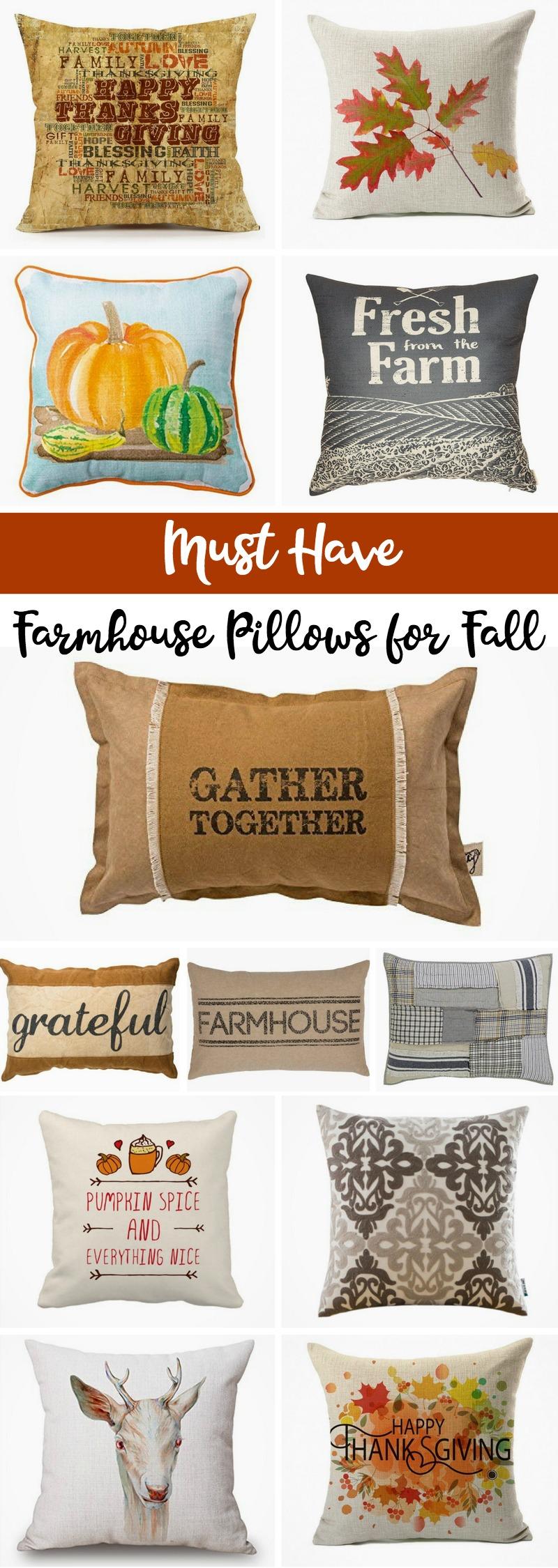 Fall Themed Farmhouse Pillows