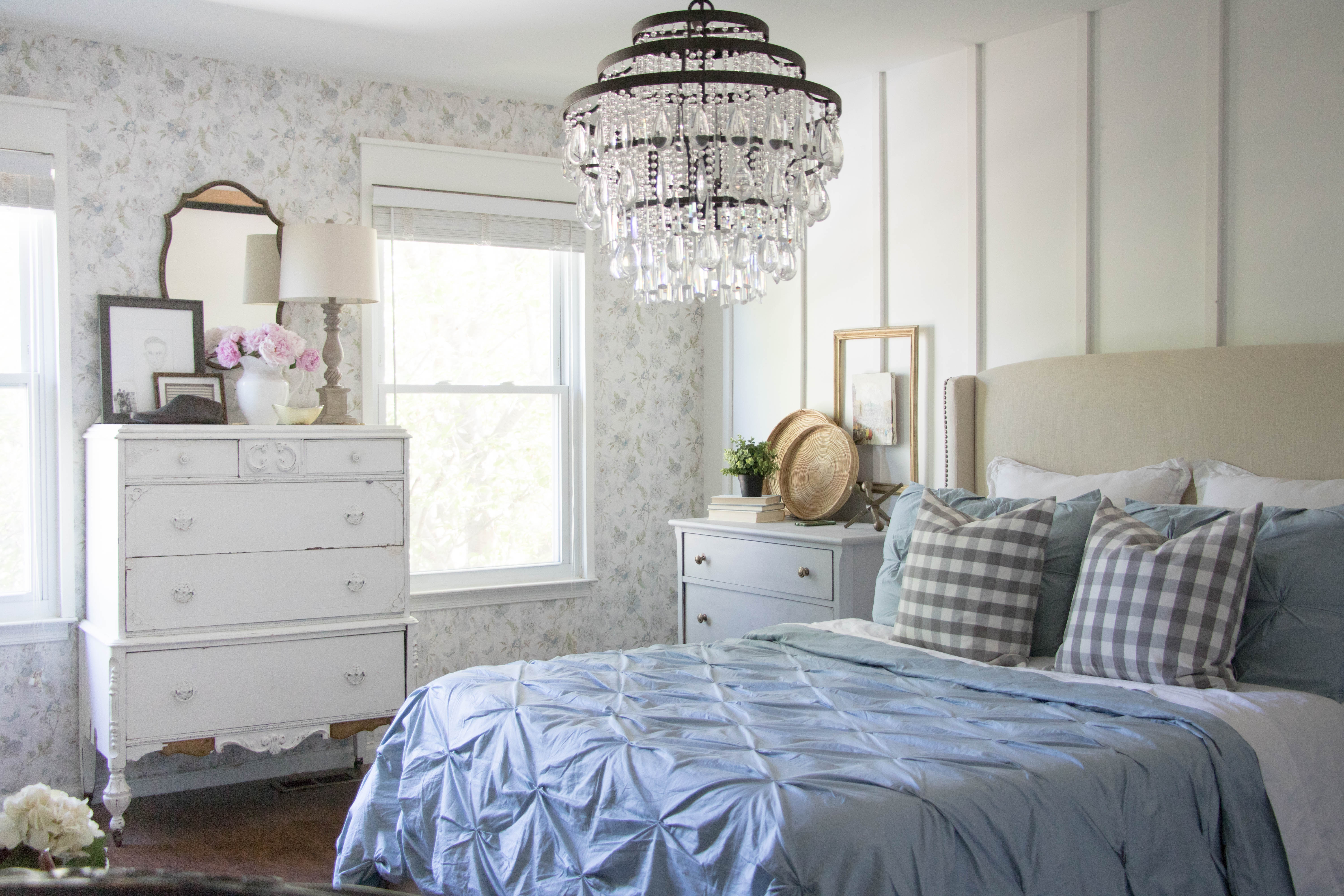 Vintage French Cottage Bedroom from Seeing Lavender Lane