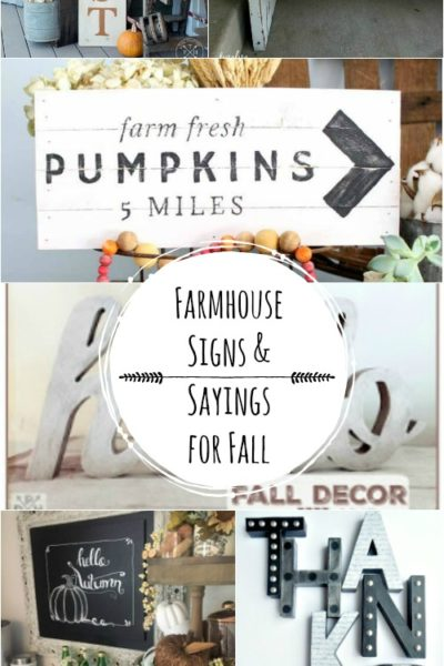Farmhouse Signs & Sayings for Fall