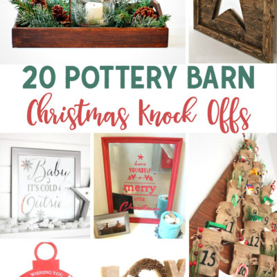 20 Pottery Barn Christmas Knock Offs