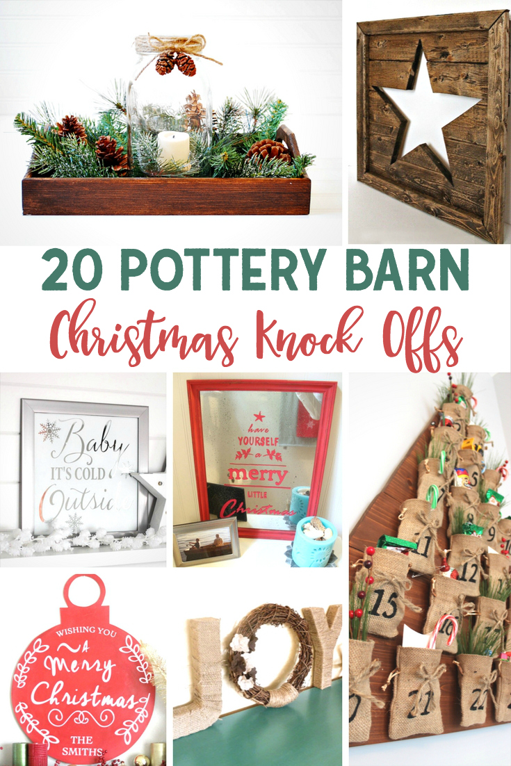 Pottery Barn Christmas Knock Offs