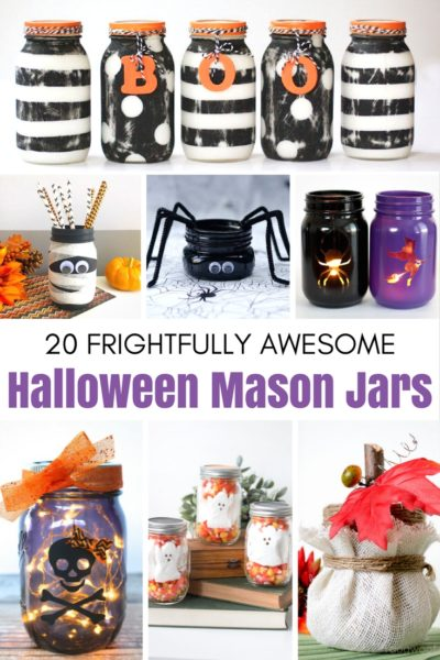20 Frightfully Awesome Halloween Mason Jars