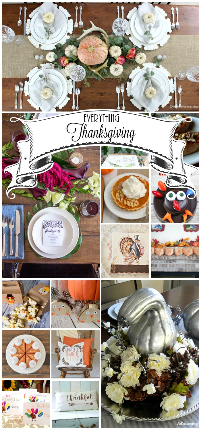 Thanksgiving crafts, decor and recipes