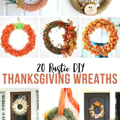 20 Rustic DIY Thanksgiving Wreaths