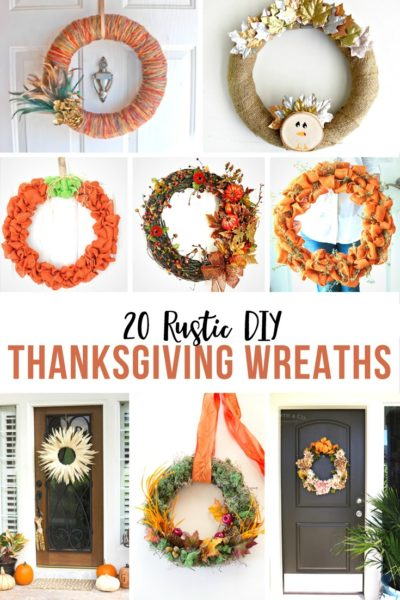 20 Rustic DIY Thanksgiving Wreaths