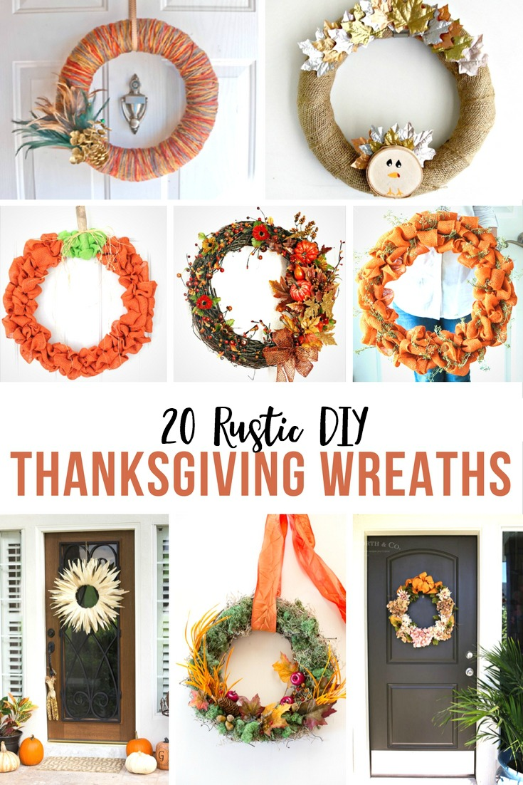 20 Rustic DIY Thanksgiving Wreaths you can make to add some fixer upper style to your home for the holidays.