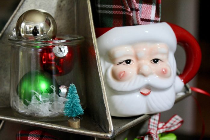 Santa mug and ornaments