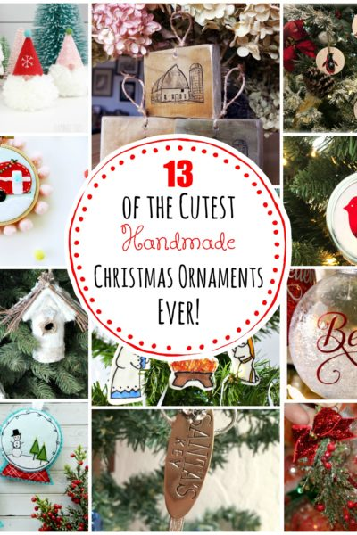 13 of the Cutest Handmade Christmas Ornaments EVER!