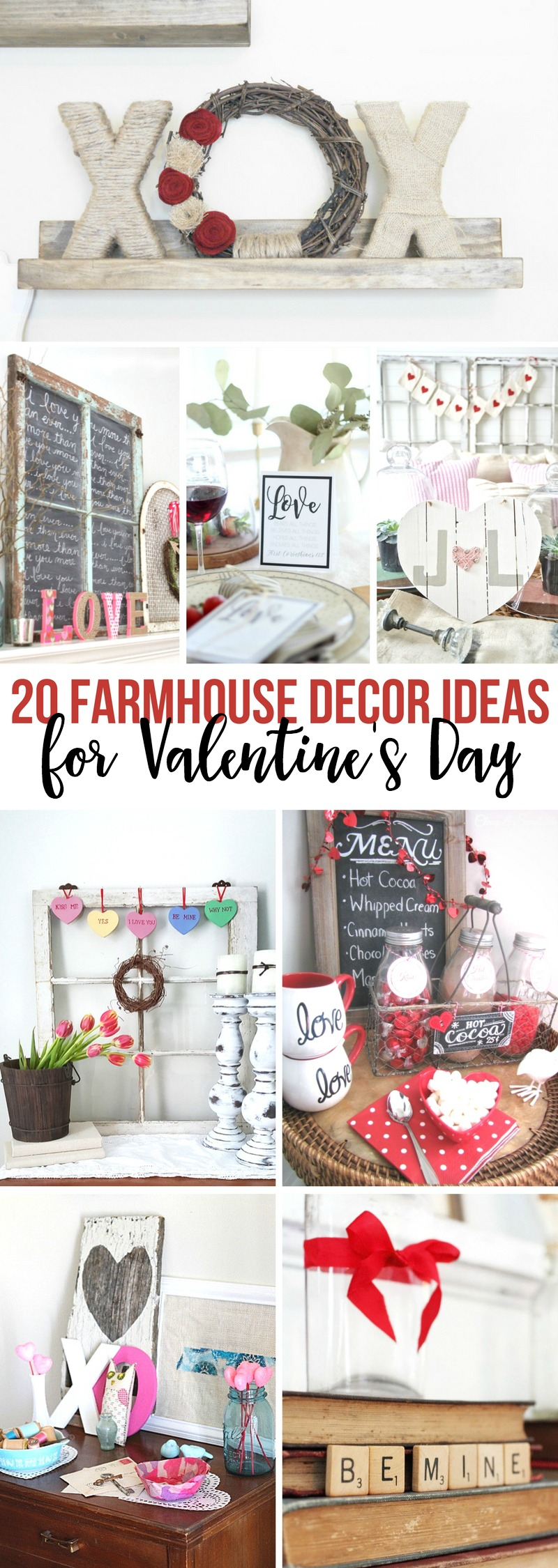 Farmhouse Decor Ideas for Valentine's Day
