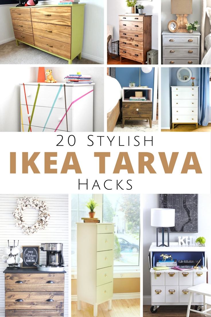 Stylish IKEA Tarva Hacks