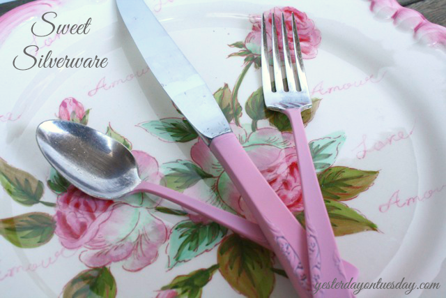DIY upcycled silverware