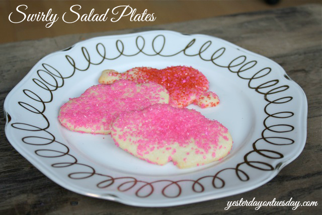 DIY Swirly Salad Plates