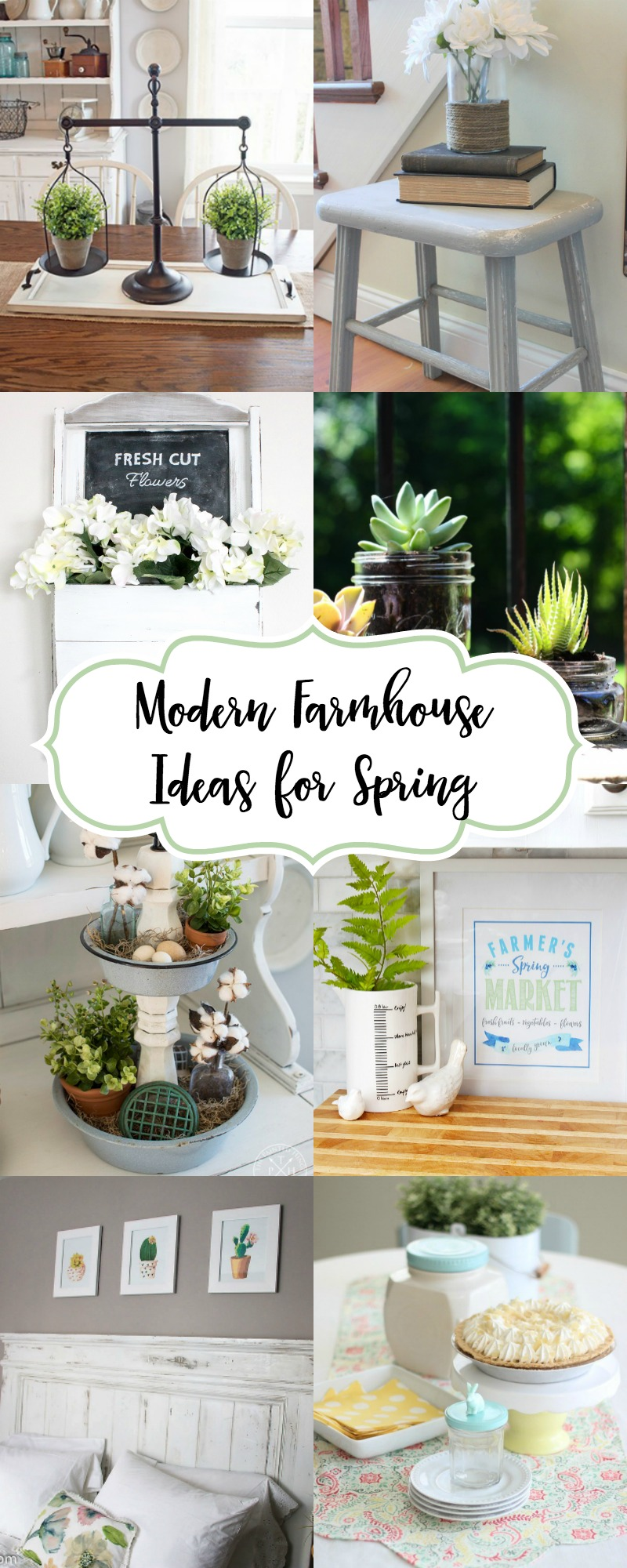 Modern Farmhouse Spring Home Decor Ideas: Modern Farmhouse Ideas For Spring