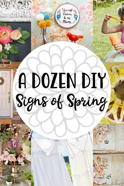 A Dozen DIY Signs of Spring