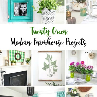 20 Green Modern Farmhouse Projects
