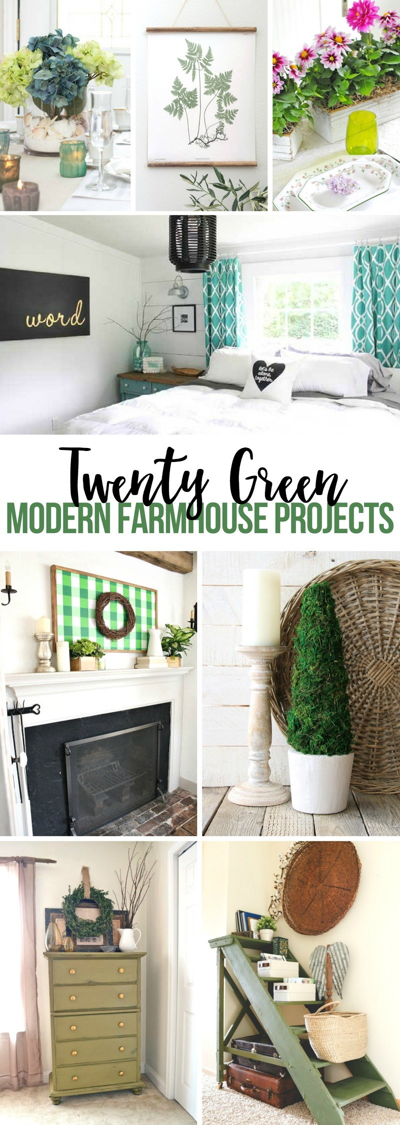 Green Modern Farmhouse Projects
