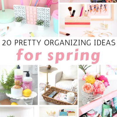 20 Pretty Organizing Ideas for Spring