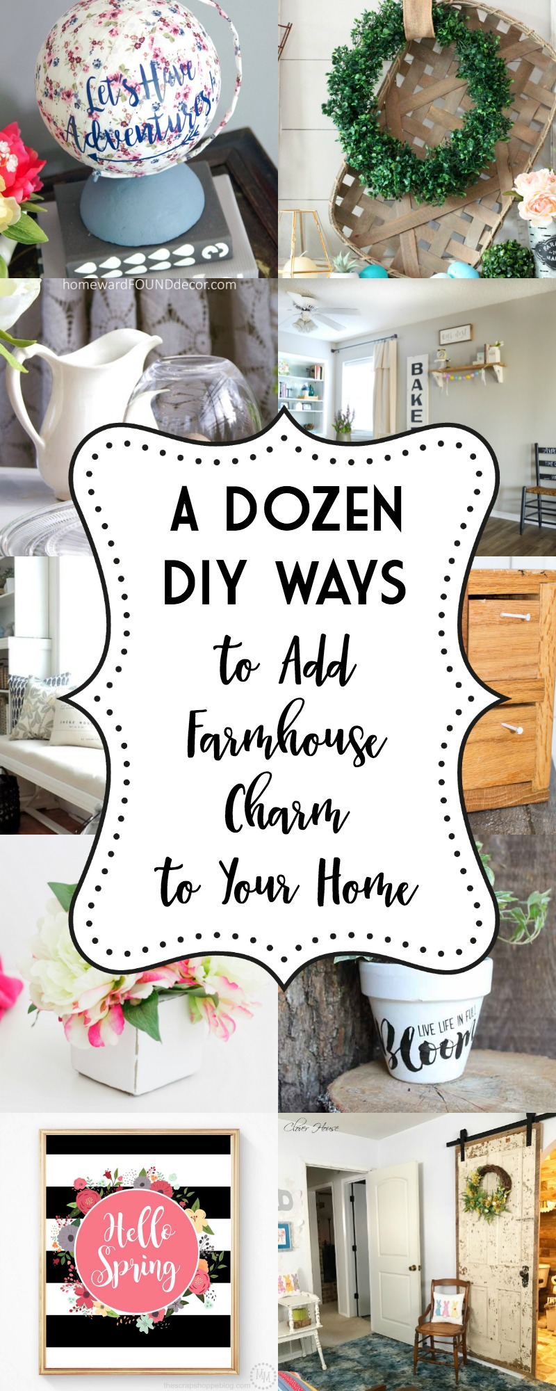 A Dozen Ways to Add Farmhouse Charm to Your Home