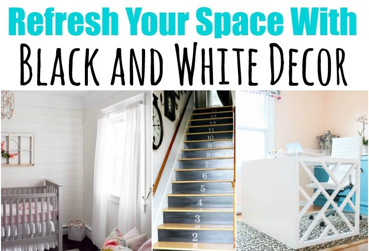 8 Black and White DIY Decor Ideas