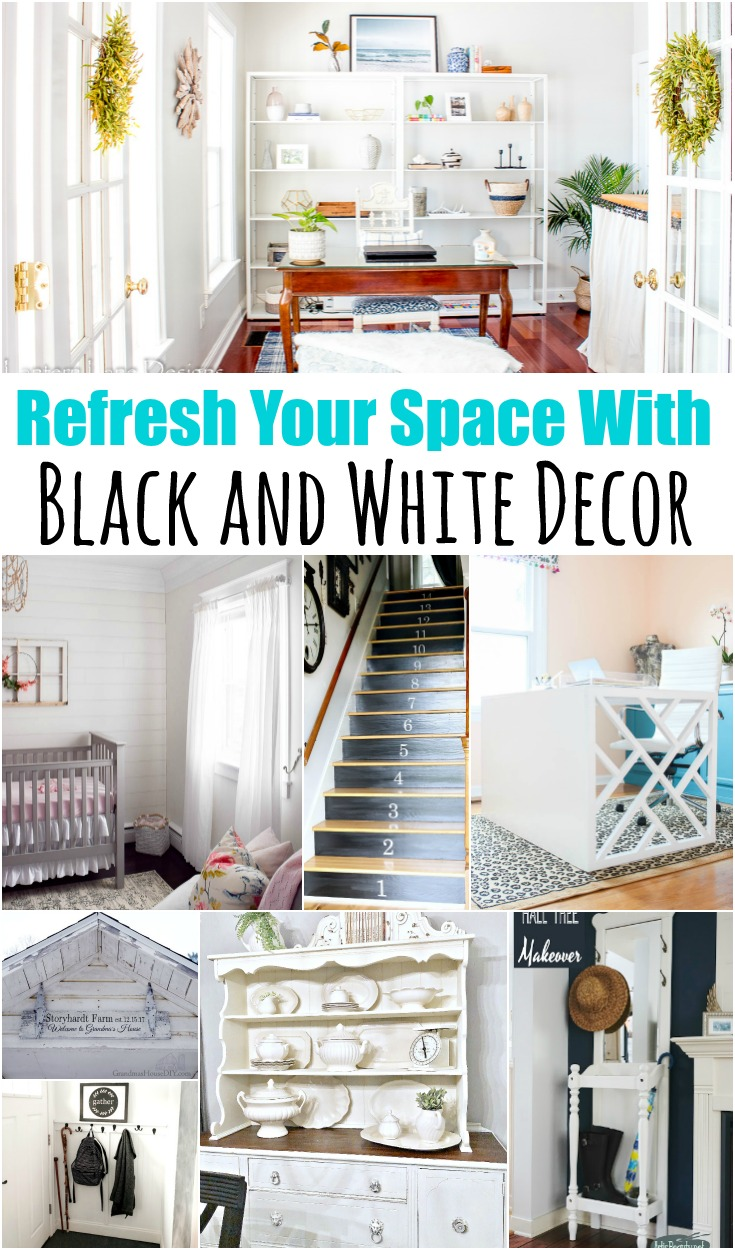 8 Black and White DIY Decor Ideas | Yesterday On Tuesday