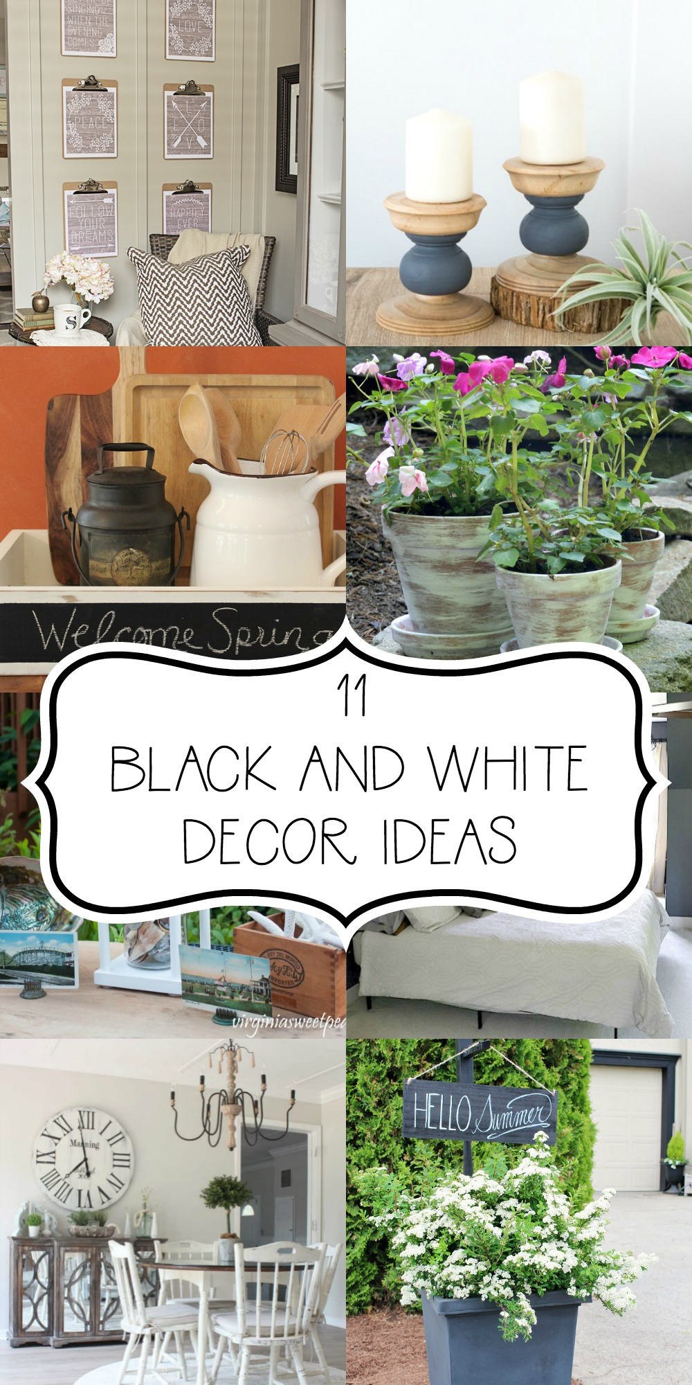 11 Black and White Decor Ideas