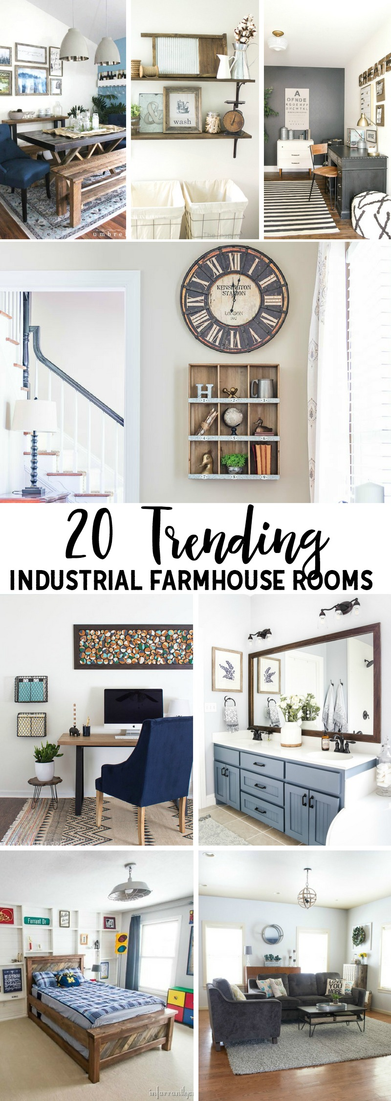 20 Trending Industrial Farmhouse Rooms