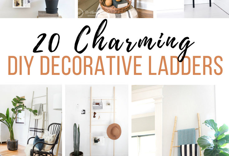 20 Charming DIY Decorative Ladders