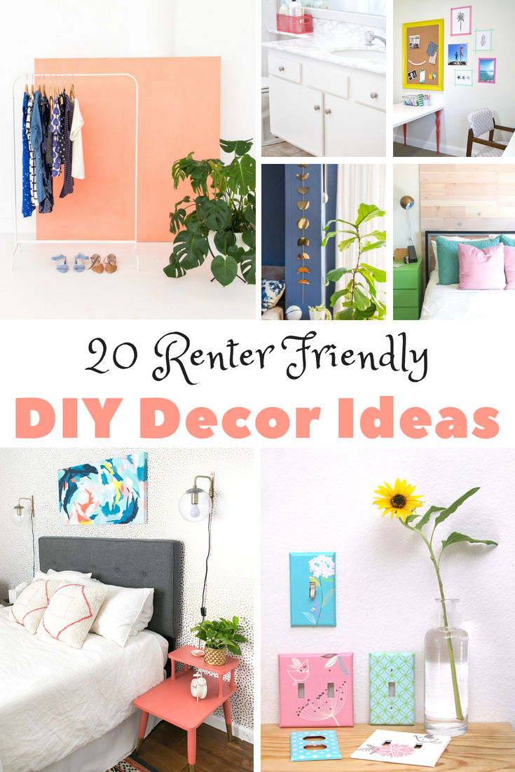 Renter Friendly DIY Decor Ideas