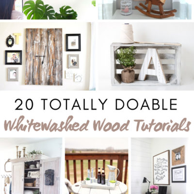 20 Totally Doable Whitewashed Wood Tutorials