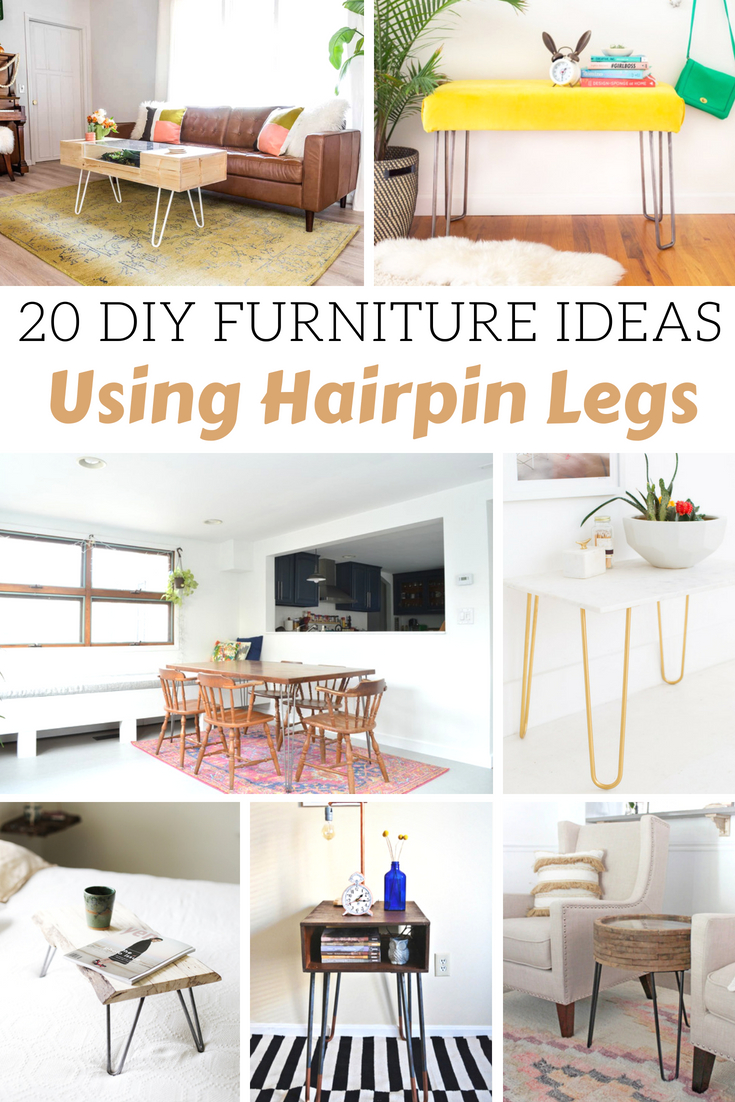 DIY Furniture Ideas Using Hairpin Legs