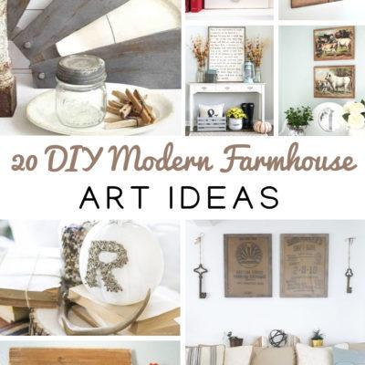 20 DIY Modern Farmhouse Art Ideas