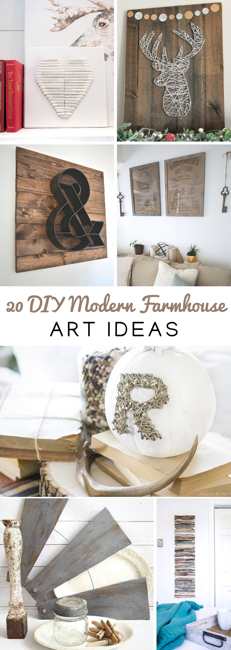 DIY Modern Farmhouse Art Ideas
