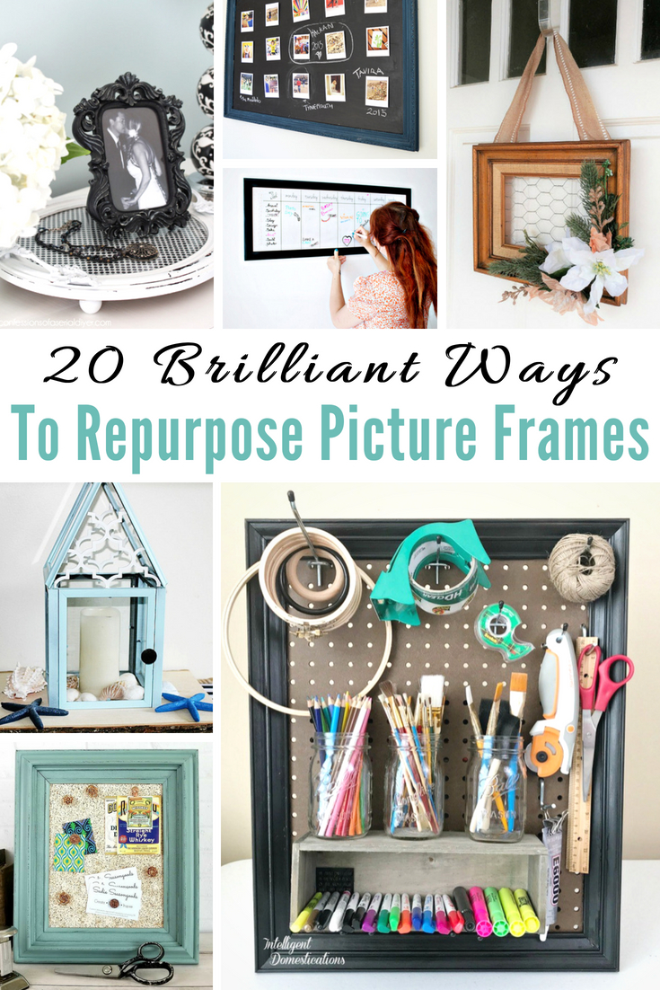 Ways To Repurpose Picture Frames