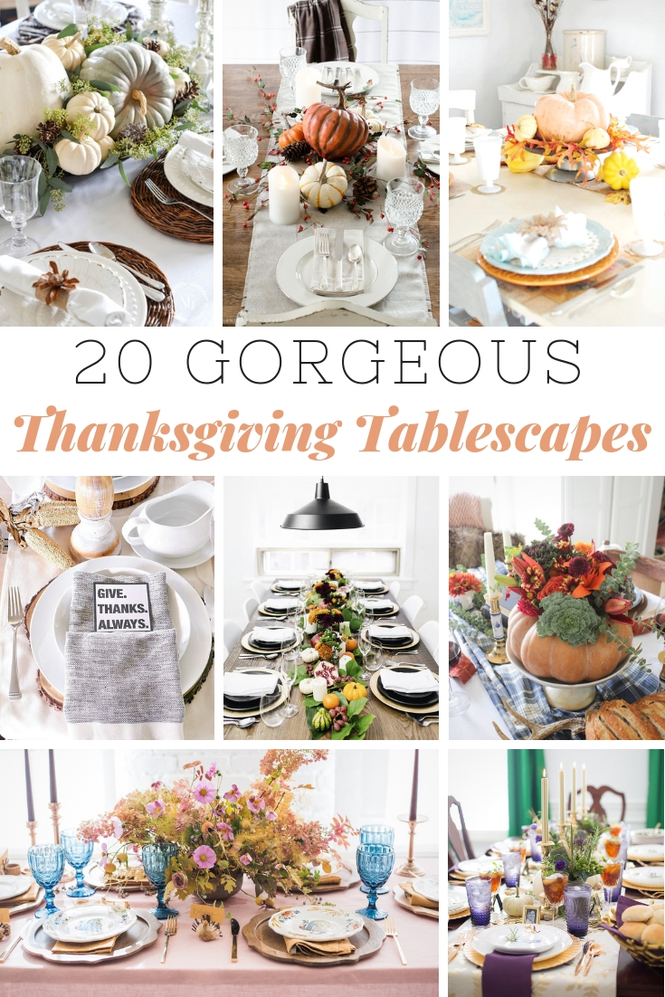 Gorgeous Thanksgiving Tablescapes