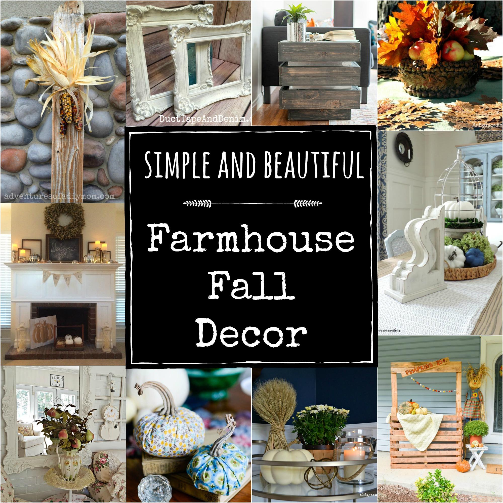 Simple and Beautiful Farmhouse Fall Decor