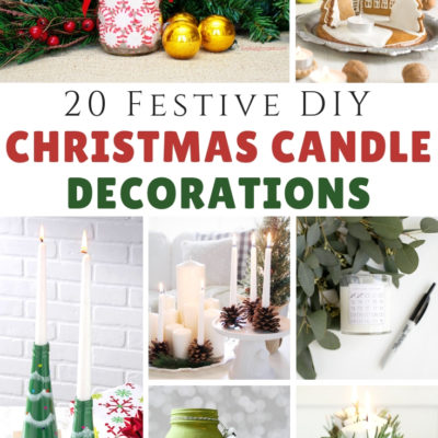 20 DIY Christmas Candle Decorations