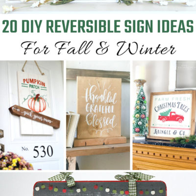 DIY Reversible Signs for Fall And Winter