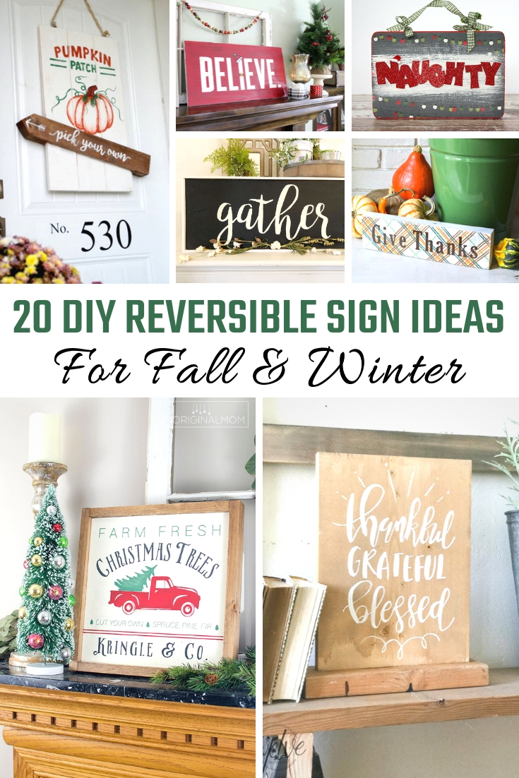 DIY Reversible Sign Ideas For Fall & Winter