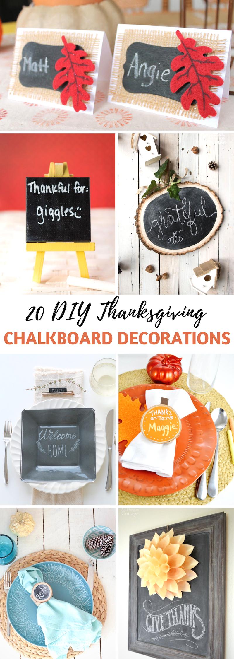 DIY Thanksgiving Chalkboard Decorations