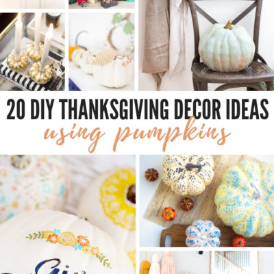 20 DIY Thanksgiving Decor Ideas Using Pumpkins