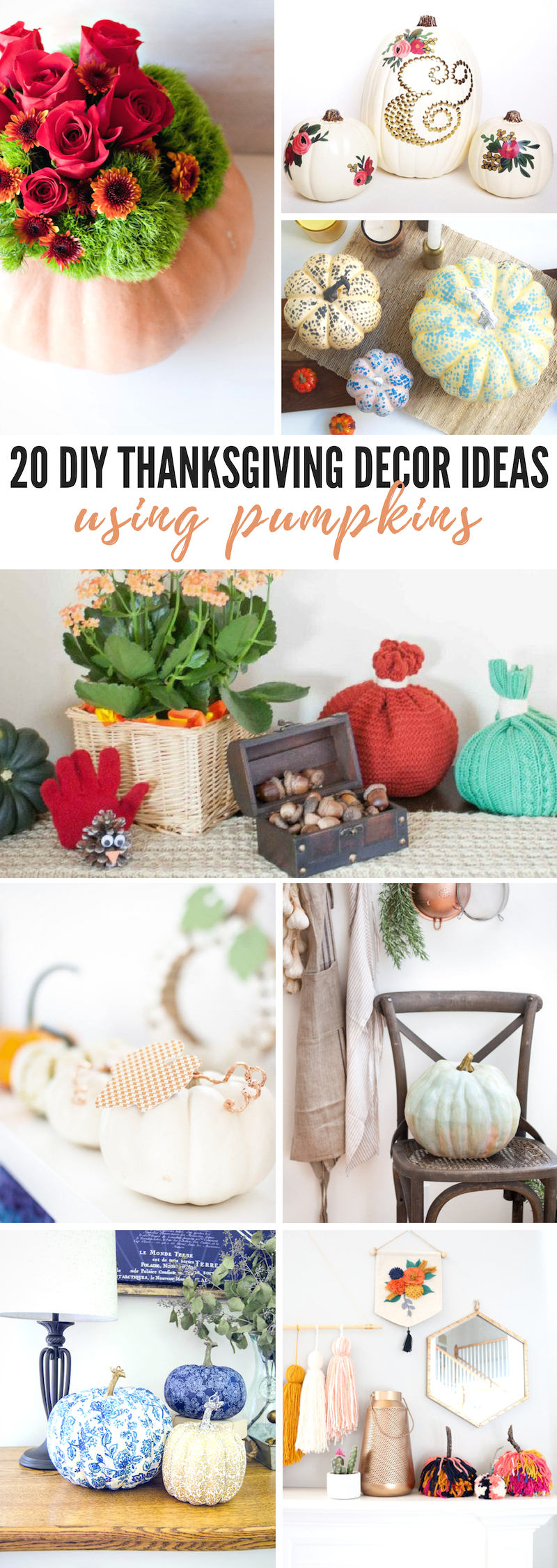 DIY Thanksgiving Decor Ideas Using Pumpkins