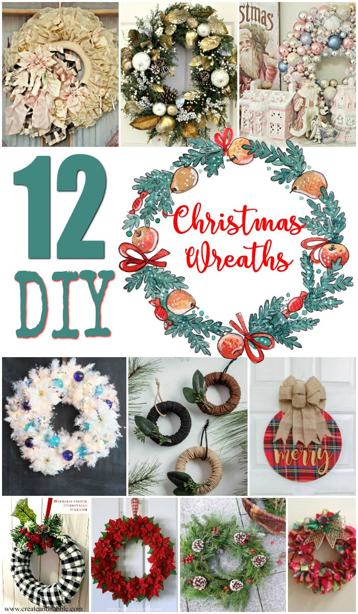 12 DIY Christmas Wreaths